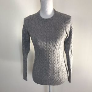 LL Bean 100% Cashmere Gray Sweater